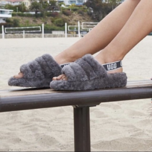 f2b999d44fc UGG Australia Fluff Yeah Slide Slipper Sandals 8